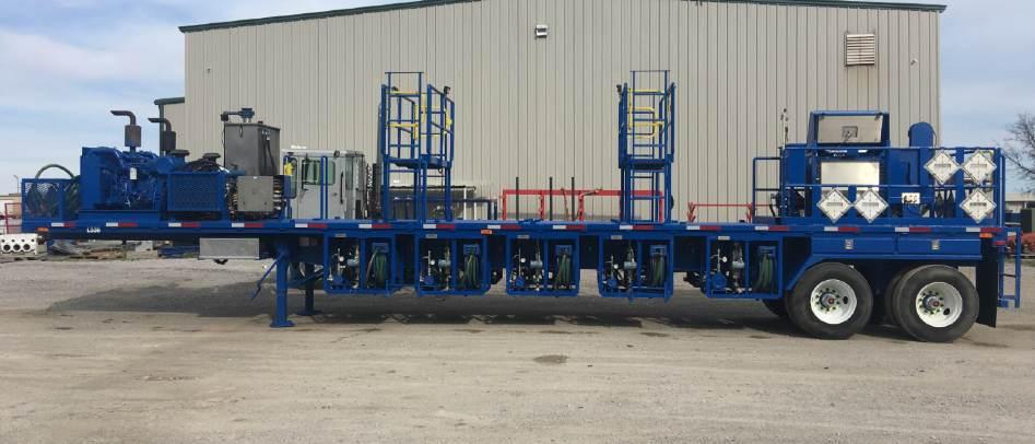 las oilfield trailer